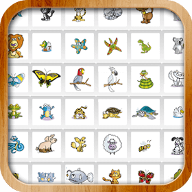 Cartoon Animal Memory Game